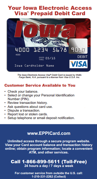 Eppicard IA (Iowa) Eppicard Customer Service and Account Login IA child support check balance