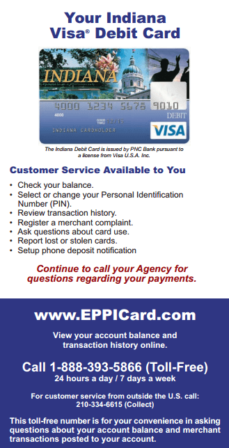 Eppicard IN (Indiana) Eppicard Customer Service and Account Login IN child support check balance
