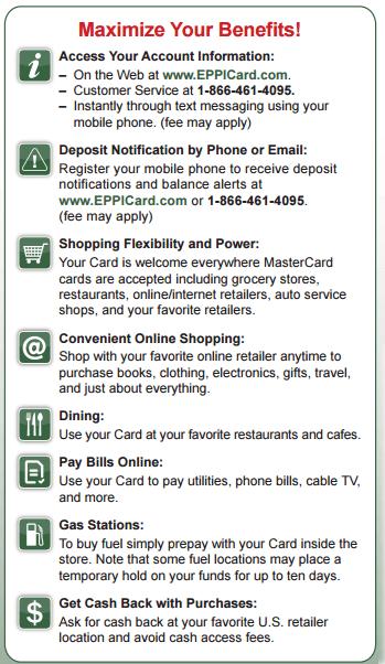 Eppicard MS (Mississippi) Customer Service Information