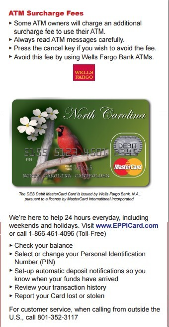Eppicard NC (North Carolina) Eppicard Customer Service and Account Login NC child support check balance
